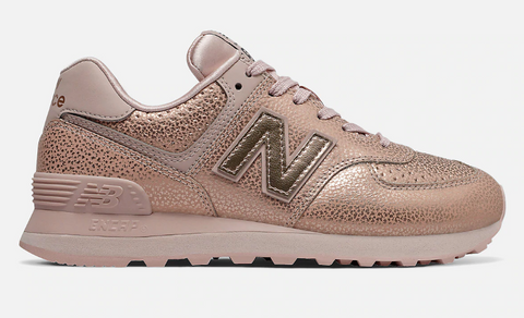 New Balance US Womens Sneakers 574 Worn Metallic Smoked Salt Peach