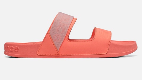 New Balance US Womens 202 Slides in Ginger Pink Fluro Orange