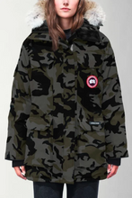 Load image into Gallery viewer, Canada Goose Expidition Parka in Camo Print with Fur Trim Hood