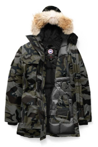 Canada Goose Expidition Parka in Camo Print with Fur Trim Hood