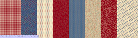 Patches of America - Multi Patchwork stripes