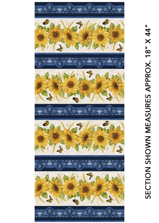 Accent on Sunflowers Stripe- Accent On Sunflowers