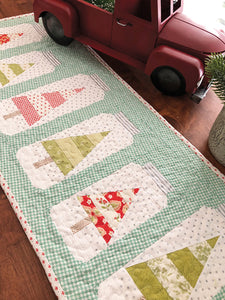 Christmas Jars Table Runner Pattern