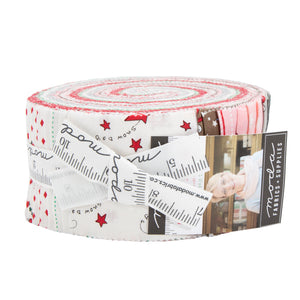 Merry Merry Snow Jelly Roll by Bunny Hill Designs