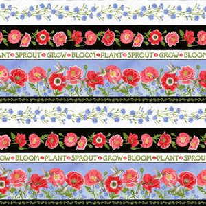 Poppy Meadow Collection -  Border Stripe