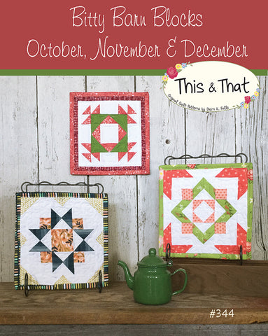 Bitty Barn Oct-Dec Pattern by Falls, Sheri