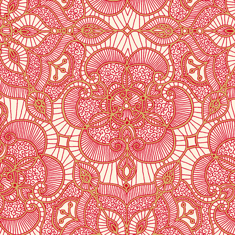 Luminous Lace- Lace Medallion-Red