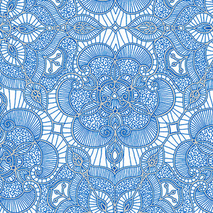 Luminous Lace- Lace Medallion-White Royal