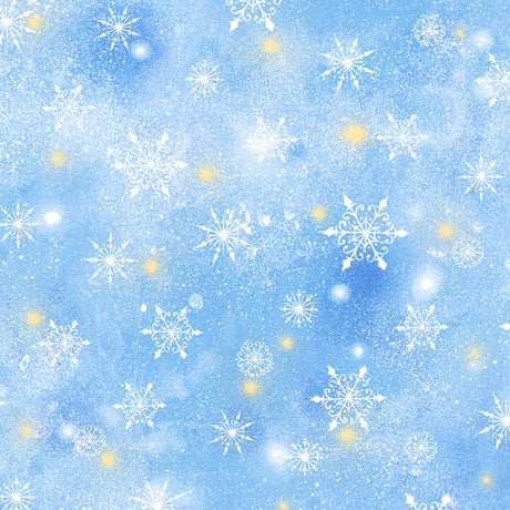 Woodland Cuties Collection- Snowflakes Blue