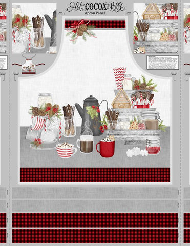 Hot Cocoa Apron Panel