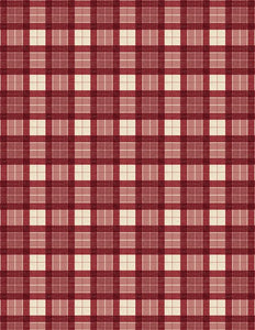 Evergreen Farm - Plaid Red E706
