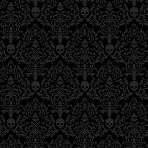 Spooky Nights - Spooky Small Damask Black