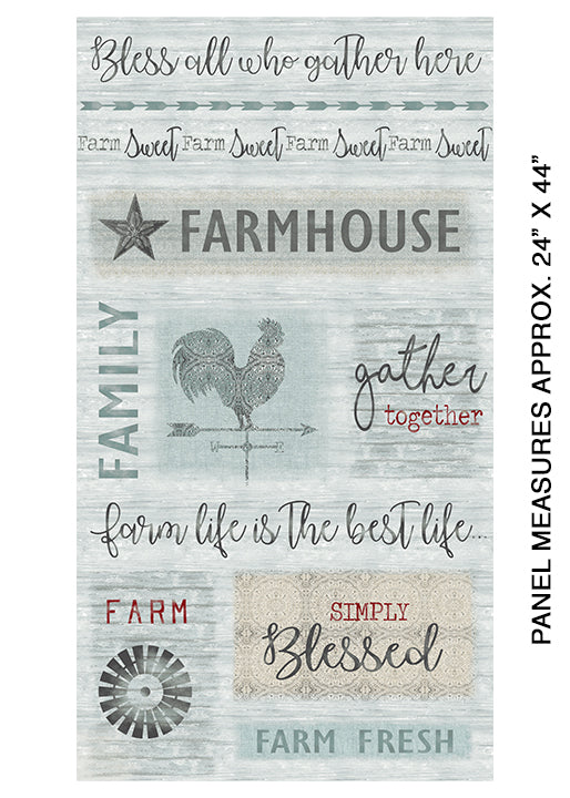 Farm Sweet Farm Collection - Aqua Family Panel
