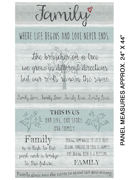 Farm Sweet Farm Collection - Family Grey Panel