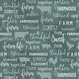 Farm Sweet Farm Collection - Chalkboard Teal