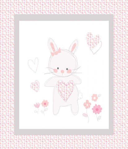 Bunny Love Panel - Nursery