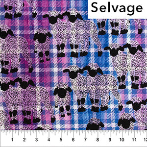 Sheep Family Blue and Pink: Kilts and Quilts Collection