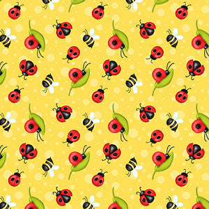 Gnome is Where Your Garden Grows - Ladybugs Yellow