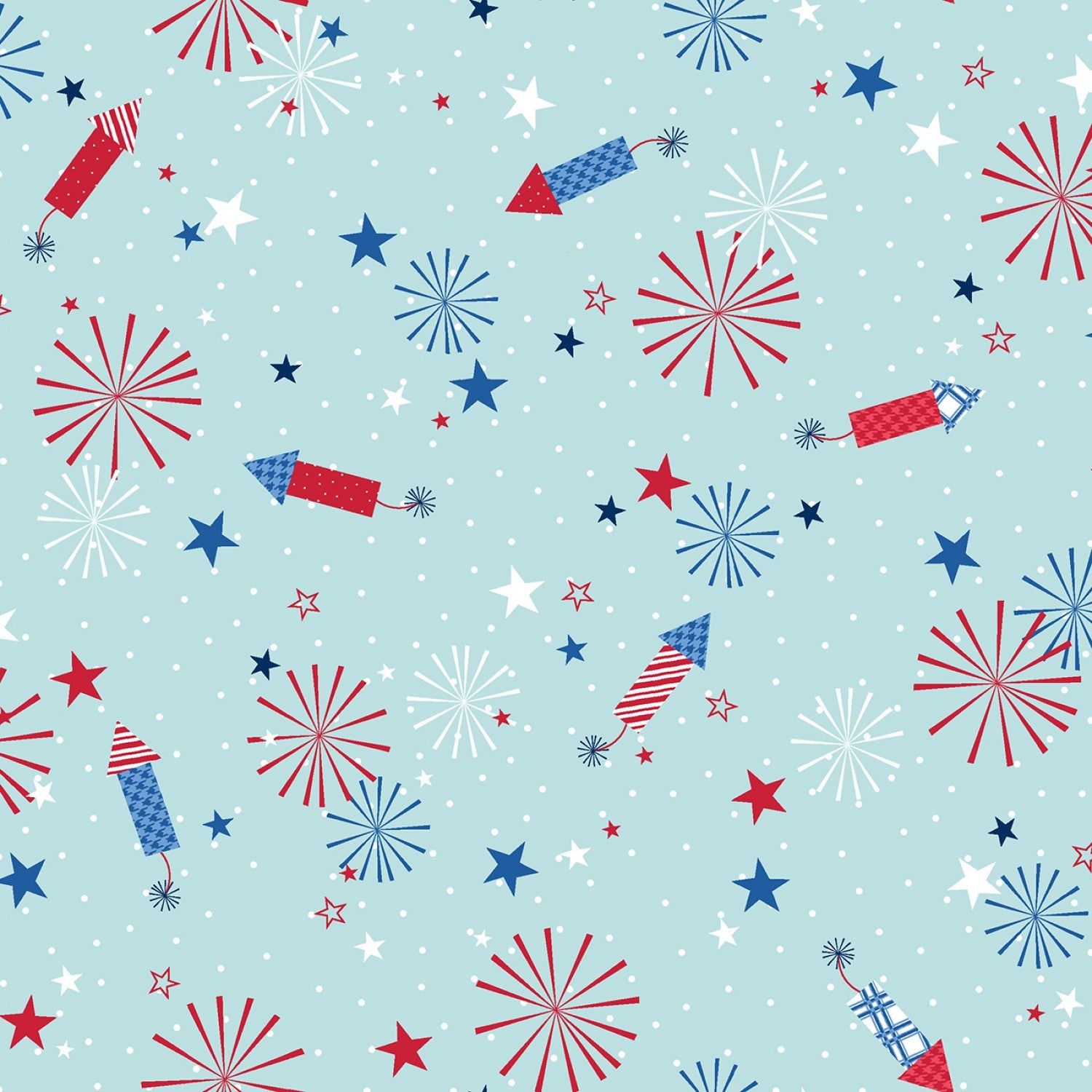 Red, White & Bloom - Aqua Fireworks