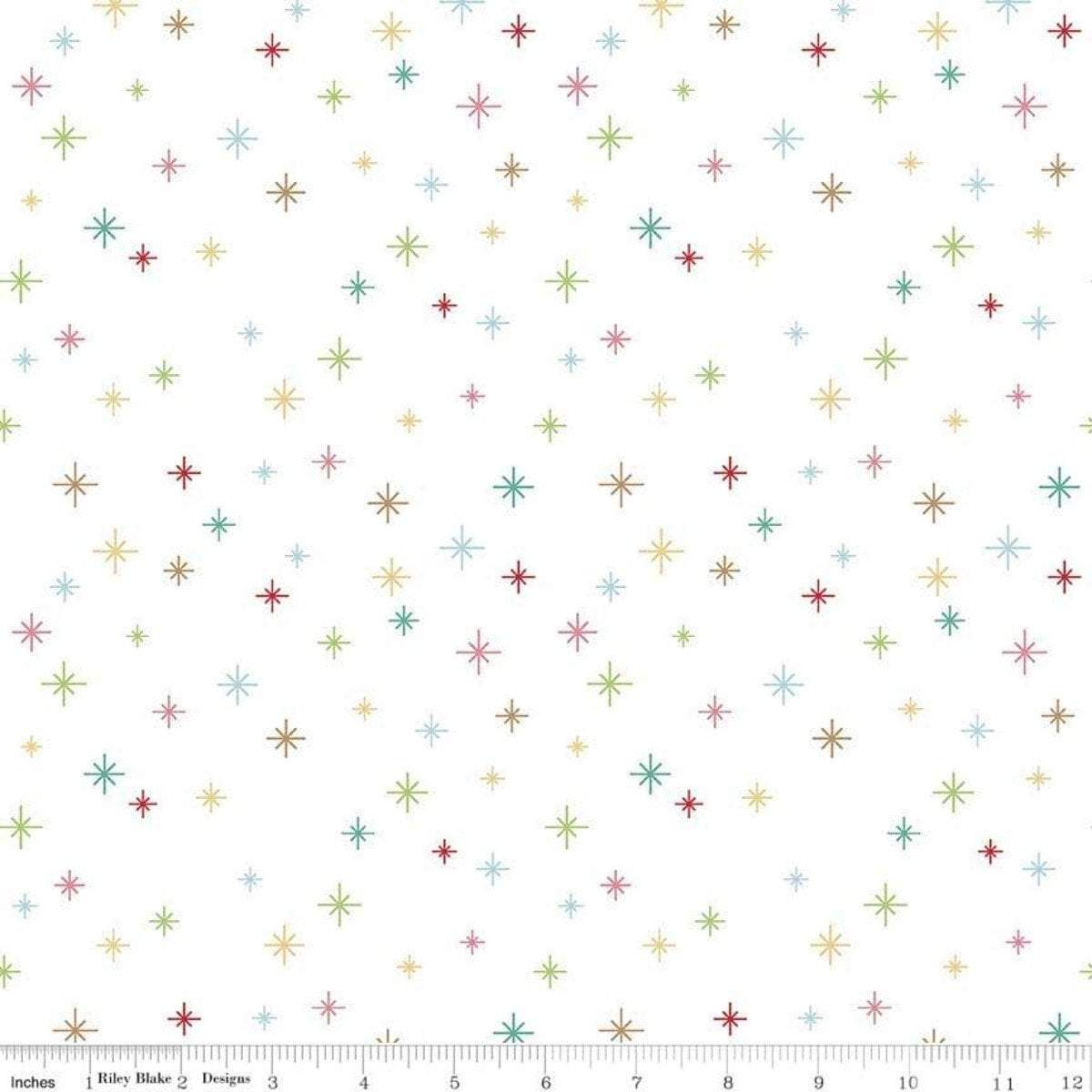 Lori Holt Christmas Cozy Background - Stars