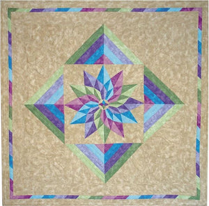 "Dahlia Magic Table Topper/Wallhanging Pattern 40""x40"""