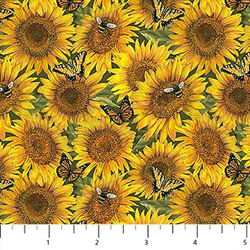 Country Paradise Collection-Sunflowers by Northcott