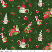 Gnome for Christmas Flannel - Main Green