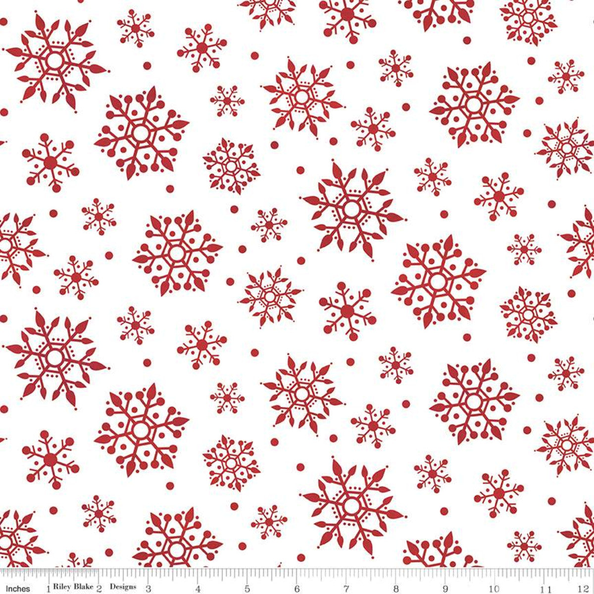 Gnome for Christmas Flannel - Snowflakes White