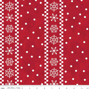 Gnome for Christmas Flannel - Stripes Red