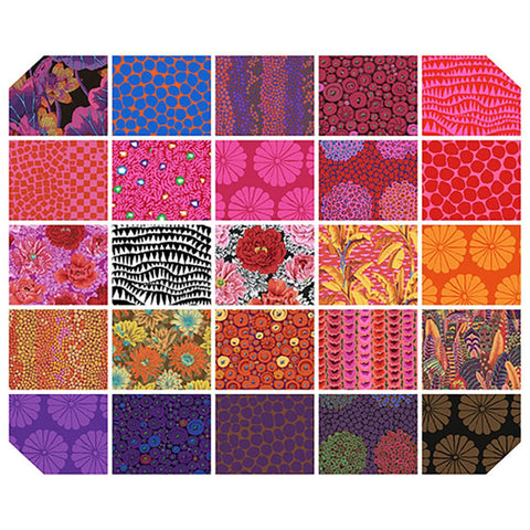 Kaffe Fassett Collective February 2021 -  Warm Fat Quarter - 25 PC