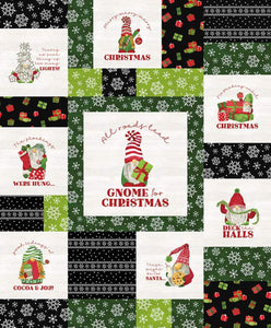 Gnome for Christmas Flannel Quilt Kit - Green