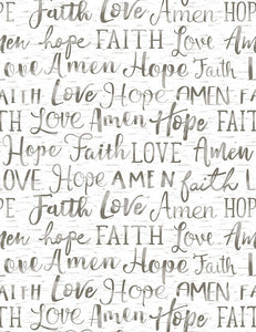 Oh Come On and Let Us Adore Him- Hope Faith Love Amen TT789