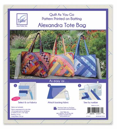 Quilt as you go Tote- Alexandra design