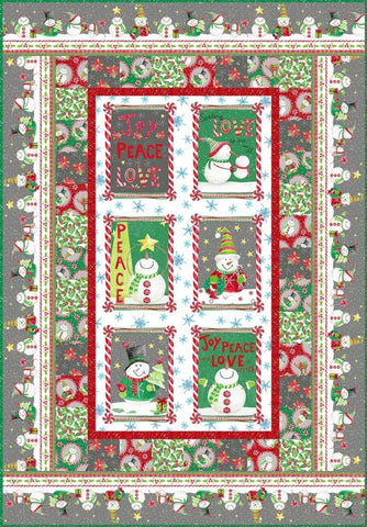 Joy Peace and Love Quilt Kit by In The Beginning Fabrics