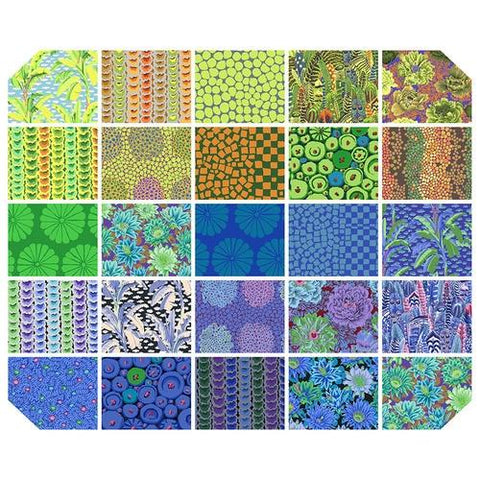 Kaffe Fassett Collective February 2021 -  Cool Fat Quarter - 25 PC