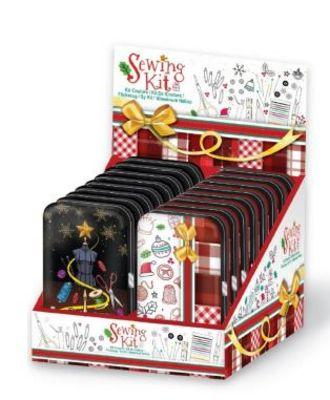 Christmas Sewing Kit 14 pc Display