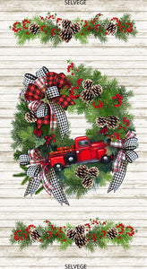 l'll be Home for Christmas Collection- Wreath Panel