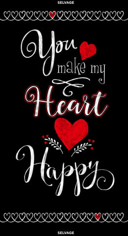You make my Heart Happy- Panel by Gail Cadden