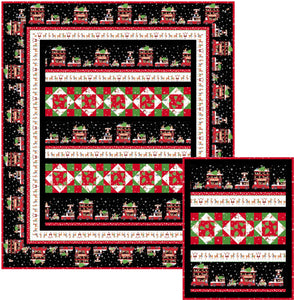 Family Outing using Double Decker Christmas- Quilt Kit