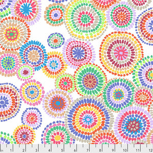 Kaffe Fassett Collective - Mosaic Circles - White