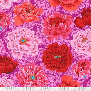 Kaffe Fassett Collective February 2021 - PREORDER Brocade Peony - Hot