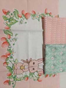 Pink Bunny Tea Towel Dress
