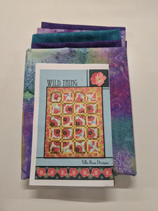 Wild Thing Quilt Kit Purple