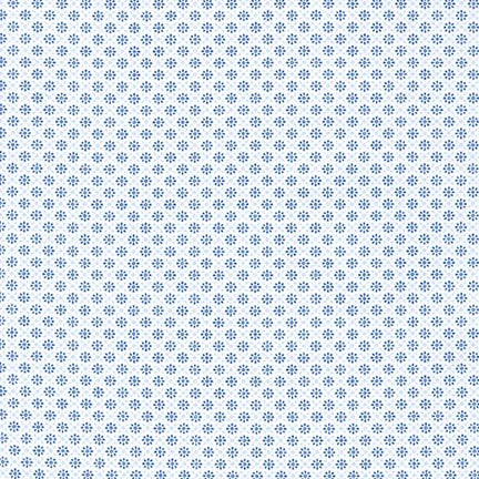 Sevenberry Collection-Blue flowers by Robert Kaufman