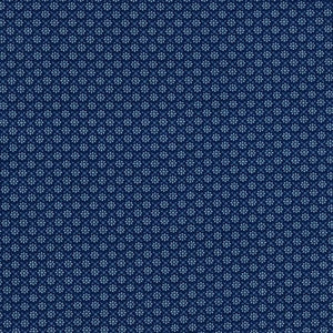 *** Sevenberry Collection-Navy Flowers by Robert Kaufman