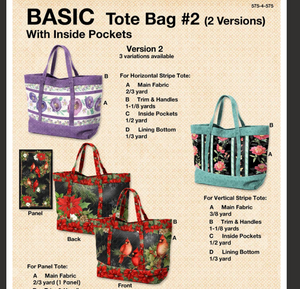 Tote using a Panel - Pattern