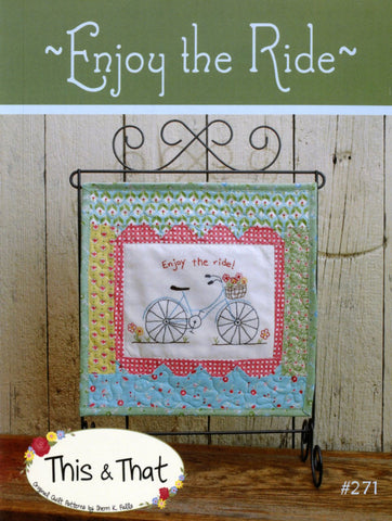 Enjoy the Ride Embroidery Pattern