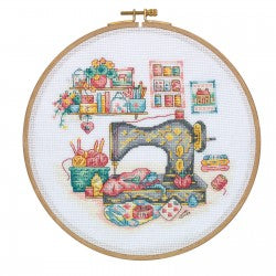 Cross Stitch Kit with Wooden Hoop By Tuva Publishing