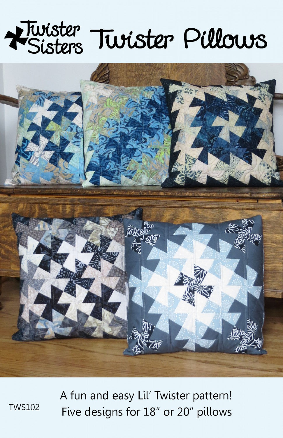 Twister Pillows Pattern By Lisa Amundson