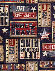 Let freedom ring -PATRIOTIC RUSTIC SIGNS-AM8